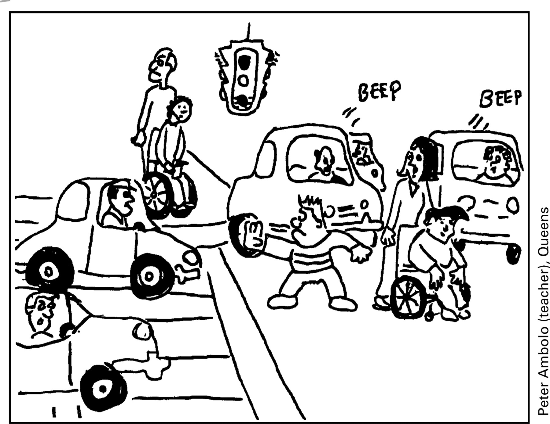 Colouring sheets road safety - Download Figure