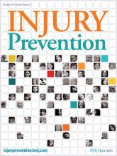 Injury Prevention: 18 (5)