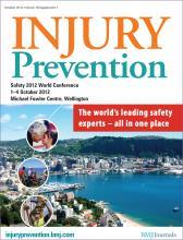 Injury Prevention: 18 (Suppl 1)